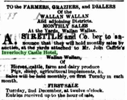 Monthly Sales at Inverlochy Castle Hotel. The Leader - November 29th, 1873