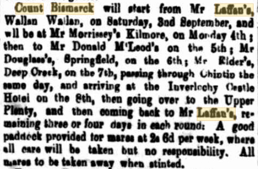 Count Bismarck. Kilmore Free Press - 2nd November, 1871