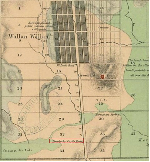 1862 Geological Survey Map of Victoria, Wallan Wallan region. The Inverlochy Castle Hotel is clearly marked on Lot 32.