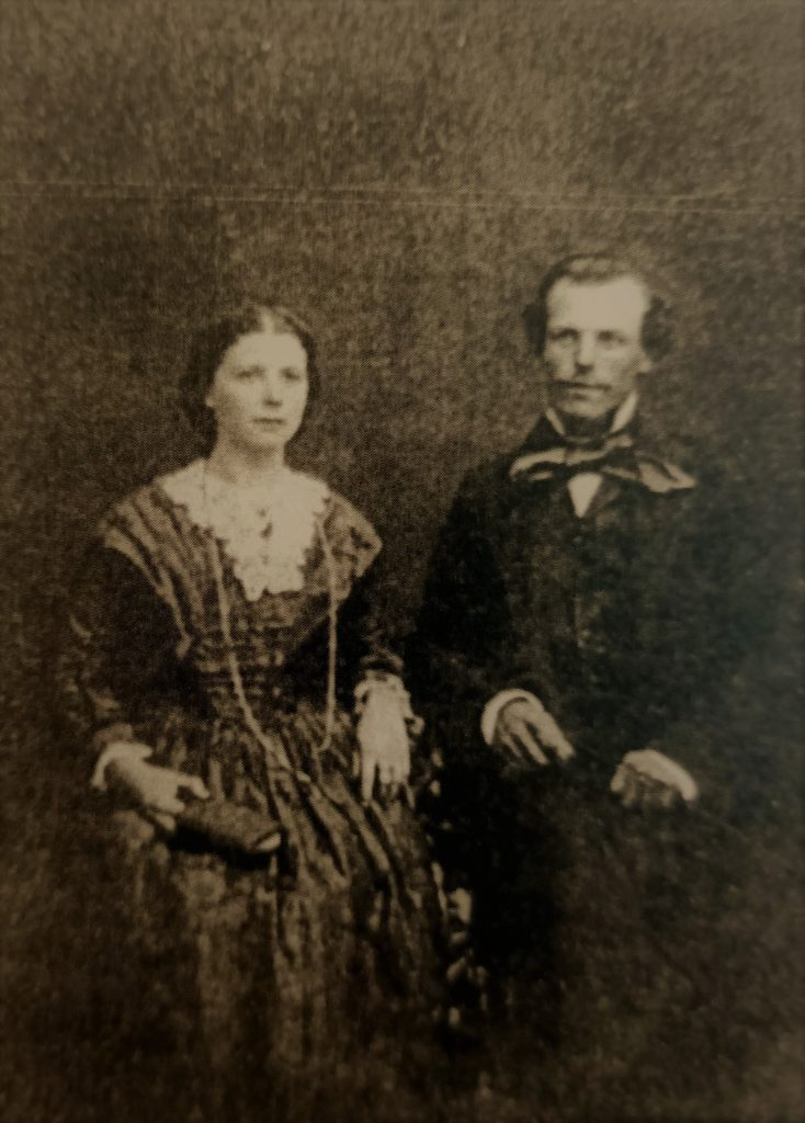 Cornelius and Mary Francis on their wedding day in 1858