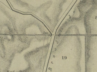 Geological Survey from 1857 showing parts of parishes of Wallan Wallan, Merriang, Darraweit Guim. An Inn is clearly visible.