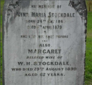 Gravestone of Margaret Stockdale and Anna Maria Stockdale at Darraweit Guim Cemetery
