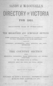 Sands & McDougall's Directory of Victoria for 1921