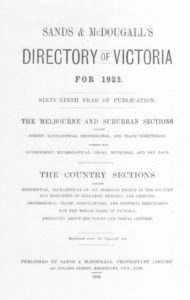 Sands & McDougall's Directory of Victoria for 1925