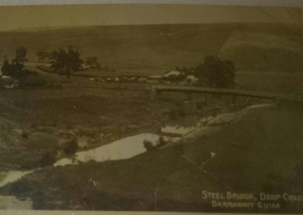 McCabes Bridge circa 1920 pictured after it was raised with steelwork