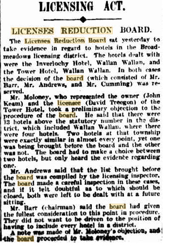 Intention to Close the Inverlochy Castle Hotel - Kilmore Free Press - June 2nd, 1909