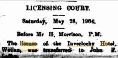 License transferred to John Francis