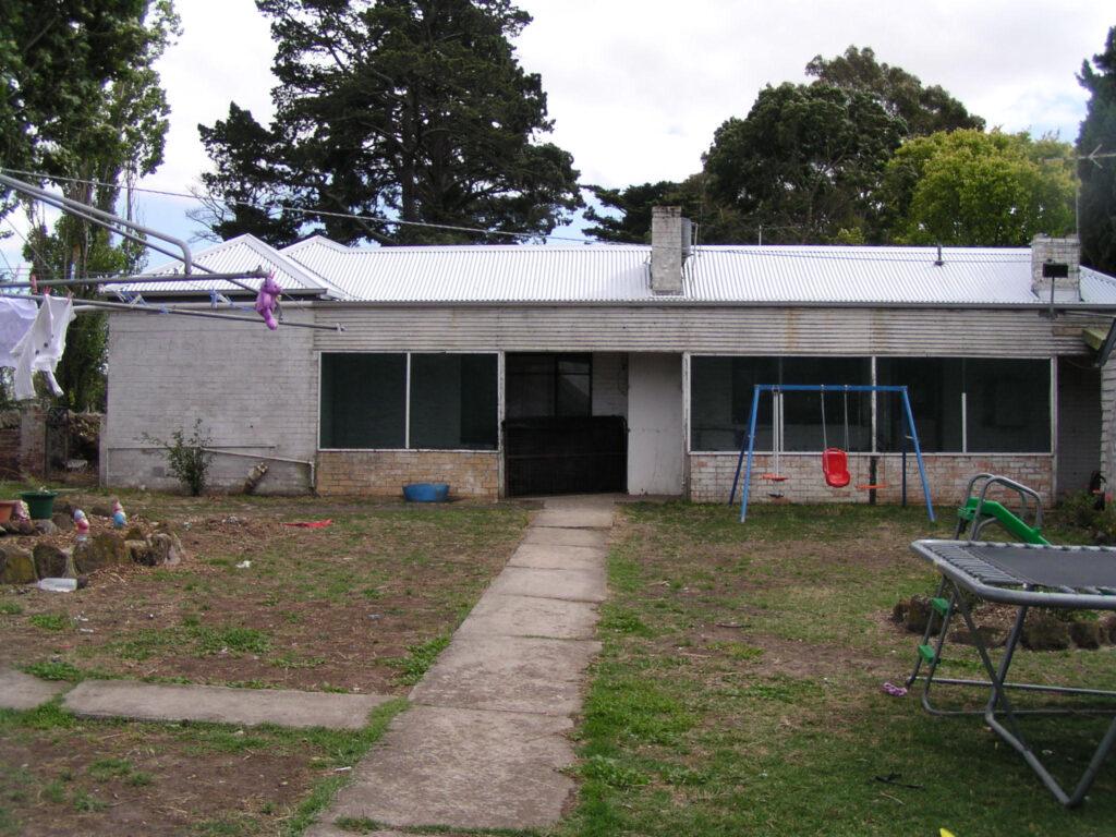 Back yard of house at Mac'sfield