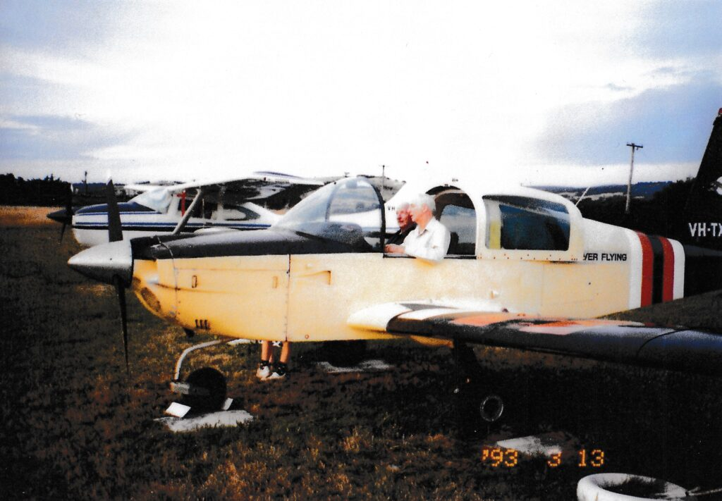 Ivo Righetti in plane owned by Discover Flying - 1993