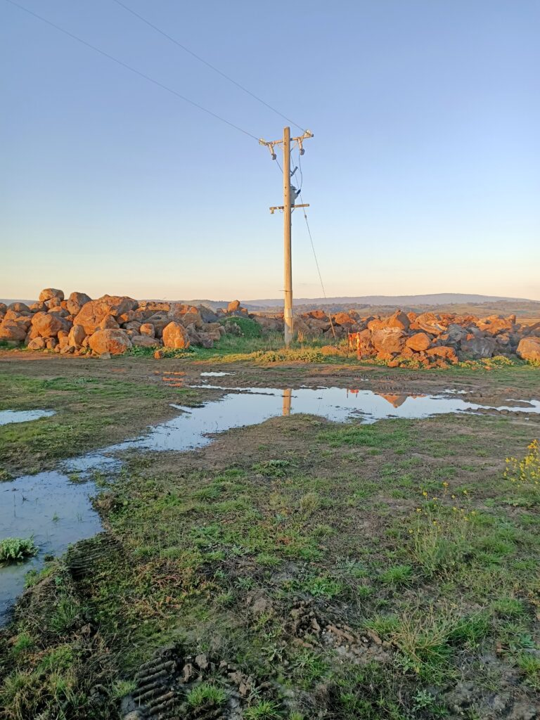 "Looking towards site of ""Wallan Woolshed"""