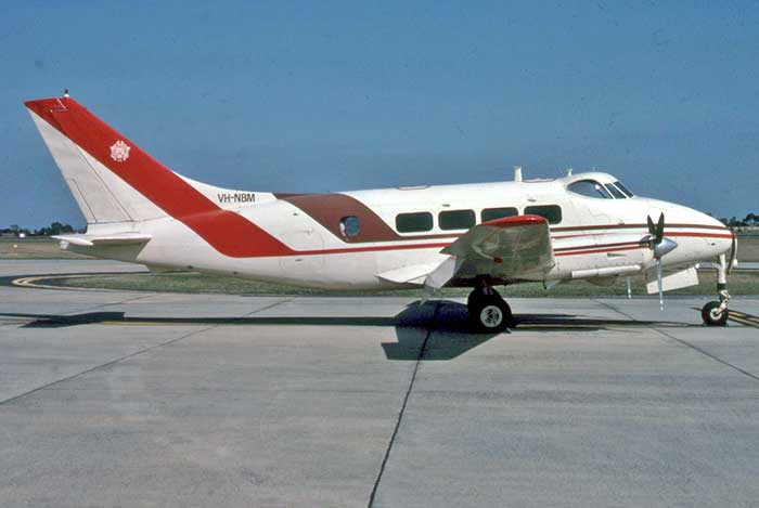 Dove VH-NBM at Essendon with Maloney Aviation - April 1988